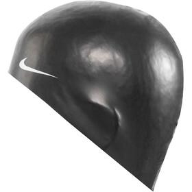 Nike Swim Solid Siliconen Badmuts, black/white